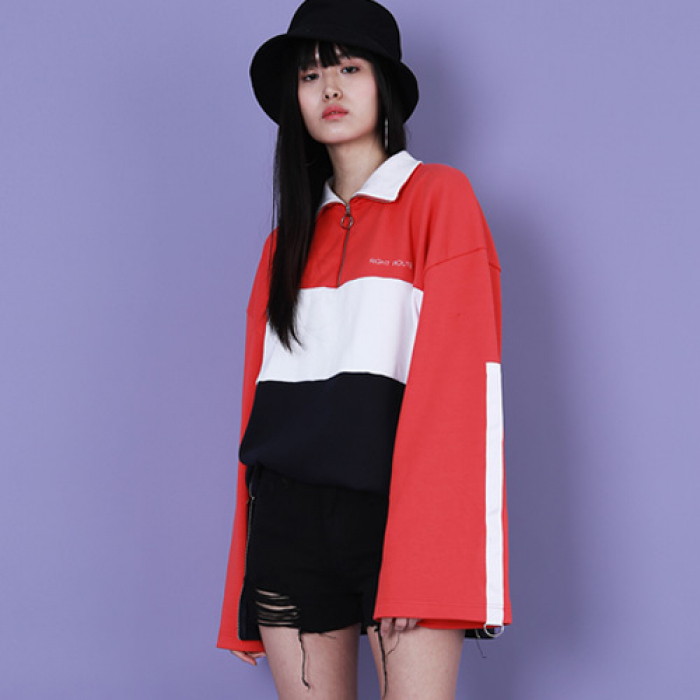 [라잇루트]Red/White/Navy Tricolor High Neck MTM [김우희&김지현]